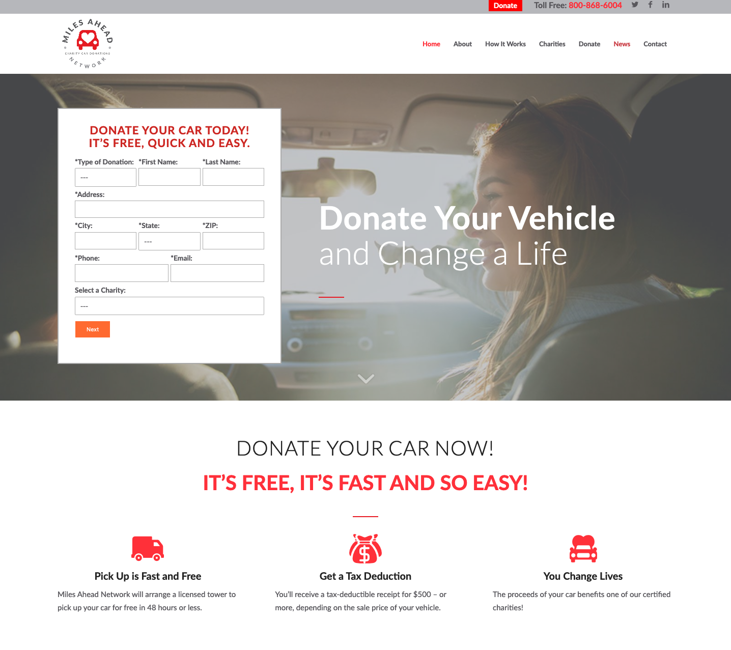 Charity Car Donations – Complete a Car Donation in New York Through Miles Ahead Network